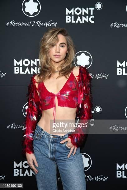 Suki Waterhouse attends the To Berlin and Beyond with Montblanc Reconnect To The World launch event at Metropol Theater on April 24 2019 in Berlin...
