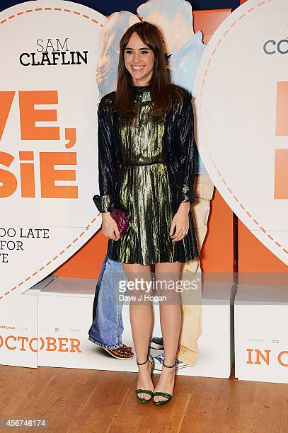 """Suki Waterhouse attends the World Premiere of """"Love, Rosie"""" at Odeon West End on October 6, 2014 in London, England."""