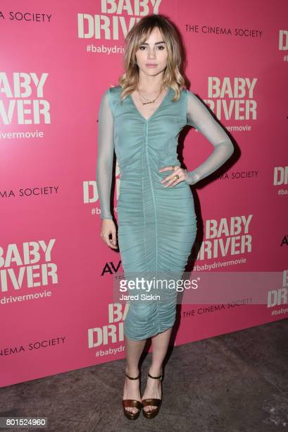 Suki Waterhouse attends TriStar Pictures with The Cinema Society Avion host a screening of 'Baby Driver' at Metrograph on June 26 2017 in New York...