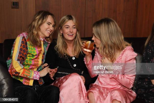 Suki Waterhouse Camille Charriere and Poppy Jamie wearing ALEXACHUNG attend Alexa Chung's CHUNGSGIVING dinner to celebrate Thanksgiving and the...