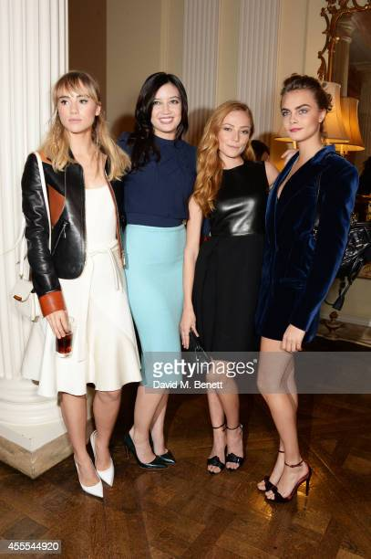 Suki Waterhouse Daisy Lowe Clara Paget and Cara Delevingne attend as Ambassador Barzun Mrs Brooke Barzun and Alexandra Shulman celebrate London...