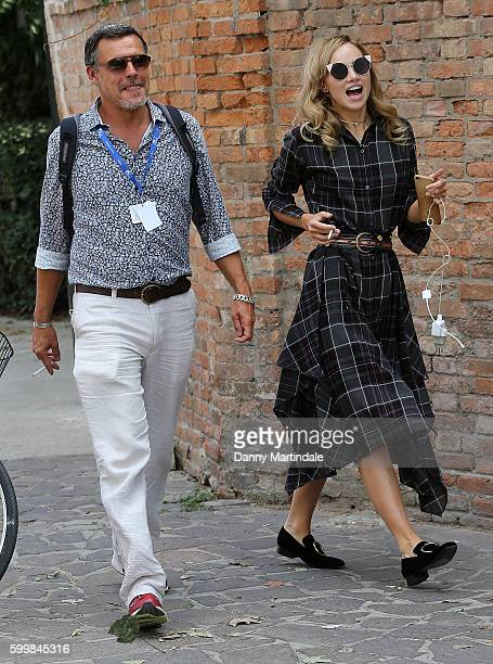 Suki Waterhouse is seen dancing around on the streets of the Lido during the 73rd Venice Film Festival on September 7 2016 in Venice Italy