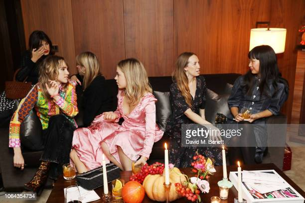 Suki Waterhouse Poppy Jamie Rachel Woodward and Rebecca Tay attend Alexa Chung's CHUNGSGIVING dinner to celebrate Thanksgiving and the launch of her...