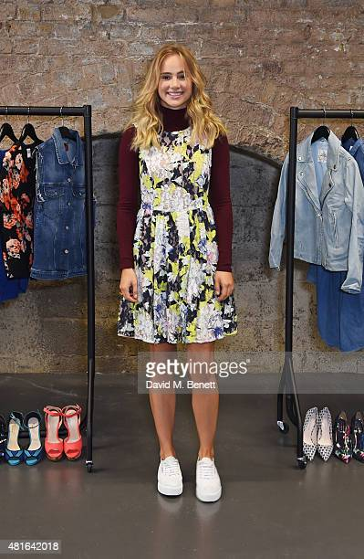 Suki Waterhouse poses at the Amazon Fashion Photography Studio which opened on July 23 2015 in London England Suki will be the first model to shoot...