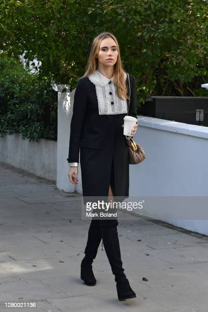 Suki Waterhouse seen walking in Notting Hill on October 13 2020 in London England