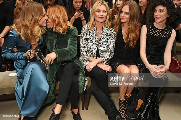 Suki Waterhouse Sienna Miller Kate Moss Cara Delevingne and Annie Clark attend the Burberry Womenswear Spring/Summer 2016 show during London Fashion...