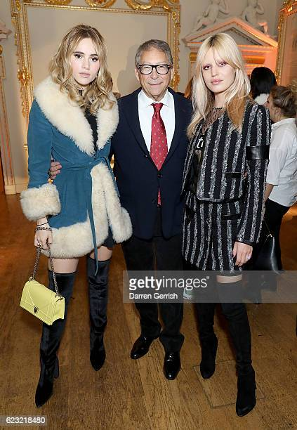 Suki Waterhouse, Stuart Weitzman and Georgia May Jagger attend a private dinner hosted by Stuart Weitzman and Gigi Hadid, to celebrate the opening of...
