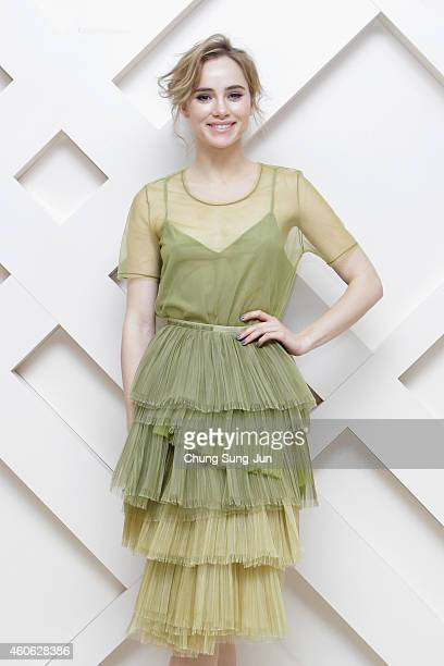 Suki Waterhouse wearing Burberry at The Burberry Beauty Box Event on December 18 2014 in Seoul South Korea