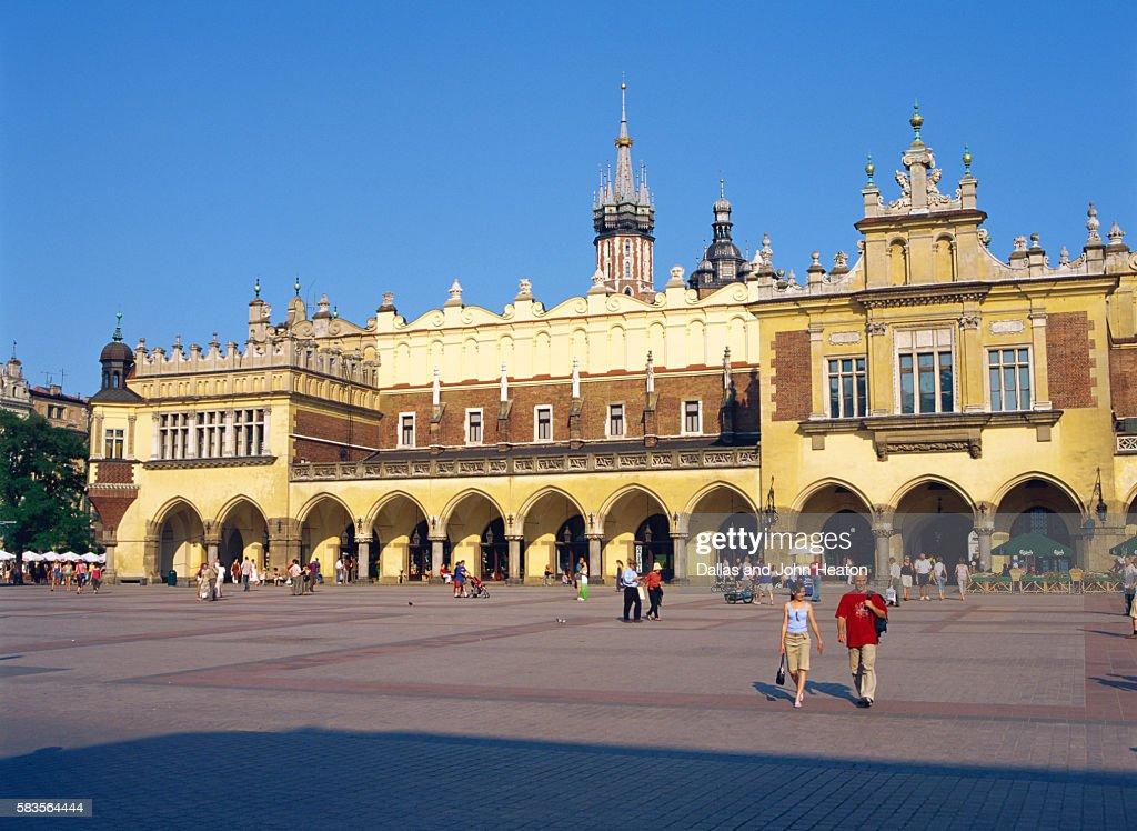 Sukiennice, Cloth Hall, Old Town, Market Square, Krakow, Poland : Stock Photo