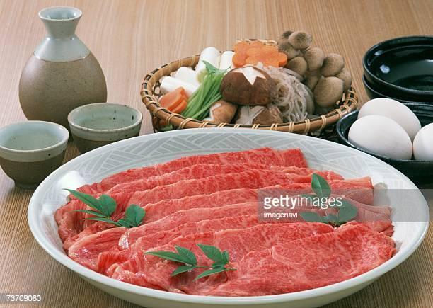 sukiyaki - shimeji mushroom stock pictures, royalty-free photos & images