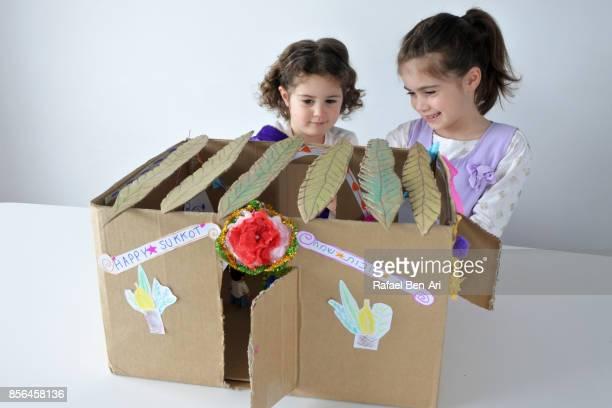 sukkot jewish holiday feast of tabernacles - rafael ben ari stockfoto's en -beelden