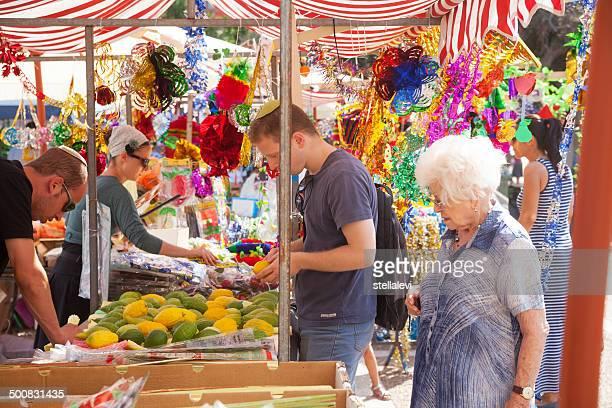 スコット市場で tel aviv - 仮庵の祭り ストックフォトと画像