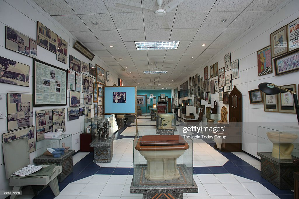 Sulabh International Museum of Toilets established by Bindeshwar Pathak in New Delhi, India on Friday, October 6, 2006. : News Photo