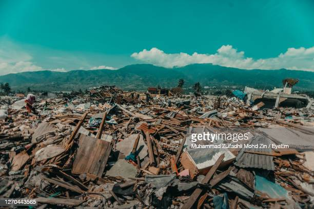 sulawesi earthquake and tsunami - indonesia stock pictures, royalty-free photos & images