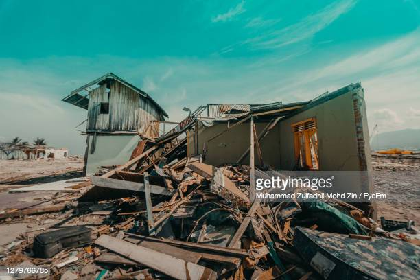 sulawesi earthquake and tsunami - tsunami stock pictures, royalty-free photos & images