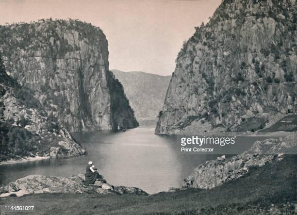 Suldal Gate' 1914 From Norge Turistruter I 65 Billeder [Mittet Co Kunstforlag Kristania 1914] Artist Unknown