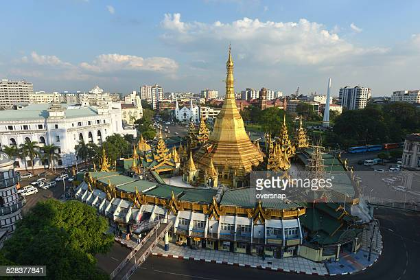 sule pagoda - yangon stock pictures, royalty-free photos & images