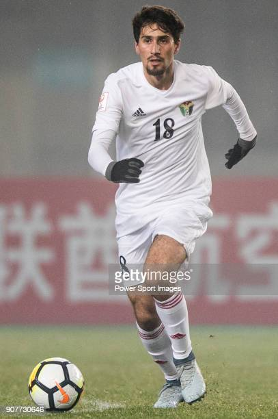 Suleiman Abu Zam'a of Jordan in action during the AFC U23 Championship China 2018 Group C match between Iraq and Jordan at Changshu Sports Center on...
