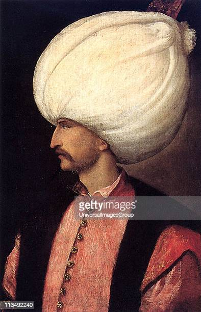 Suleiman I Sultan of the Ottoman Empire from 1520 known in the West as Suleiman the Magnificent and in the East as the Lawmaker Headandshoulders...