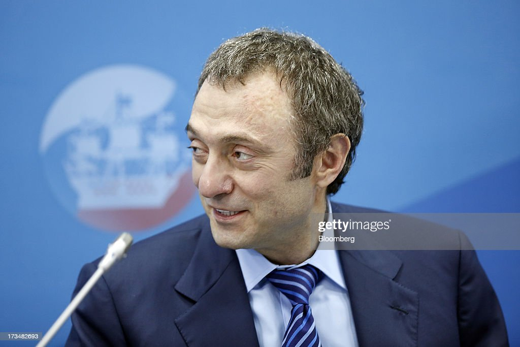 Suleiman Kerimov, Russian billionaire, speaks during a conference session on the opening day of the St. Petersburg International Economic Forum 2013 (SPIEF) in St. Petersburg, Russia, on Thursday, June 20, 2013. Russian consumer spending probably eased and investment shrank at the fastest pace since 2011, adding to evidence the $2 trillion economy is stalling. Photographer: Simon Dawson/Bloomberg via Getty Images