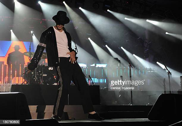 Suleman Mirza of Signature performs during the Andre Agassi Foundation for Education's 16th Grand Slam for Children benefit concert at the Wynn Las...