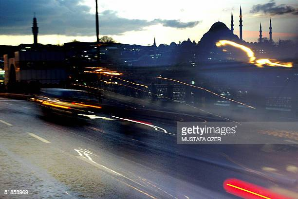 Suleymaniye mosque is seen from the Galata Bridge downtown Istanbul 14 December 2004 EU members are to meet 16 December 2004 to debate the most...
