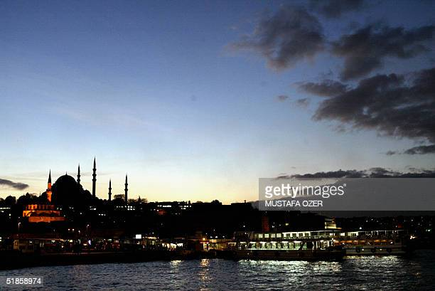 Suleymaniye mosque is seen from the Galata Bridge Istanbul 14 December 2004 EU members are to meet 16 December 2004 to debate the most strategically...