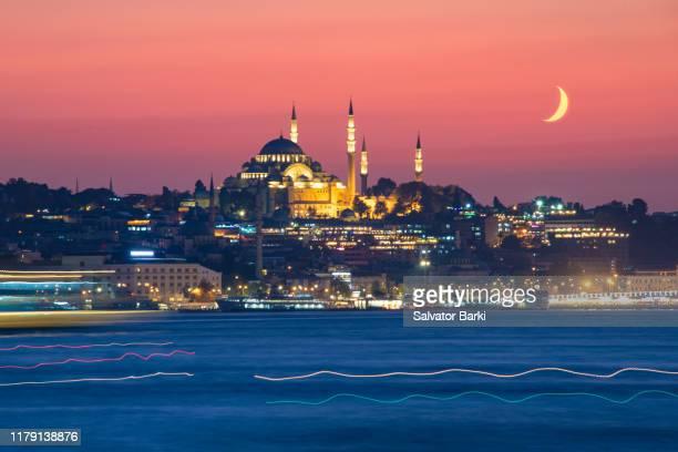 suleymaniye mosque, istanbul. - istanbul foto e immagini stock