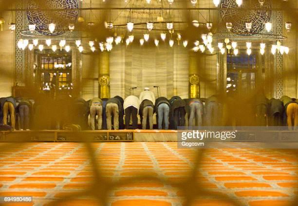 suleymaniye mosque - namaz stock pictures, royalty-free photos & images