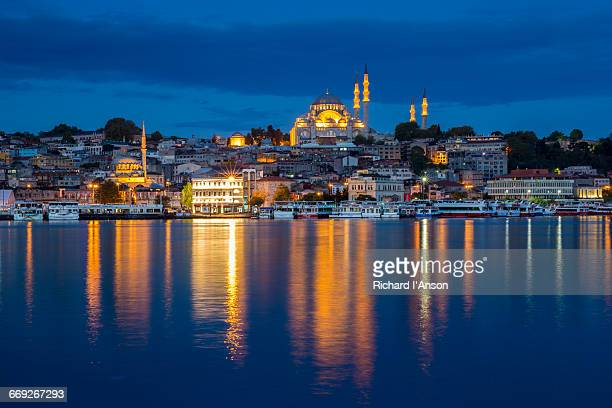 Suleymaniye Mosque & reflections in Golden Horn