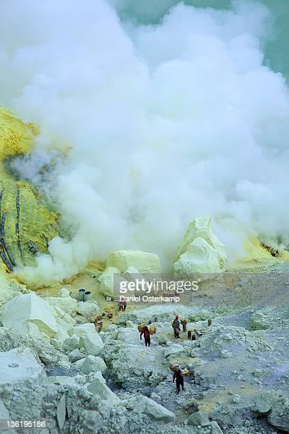 Sulfur Mine site at Kawa Ijen