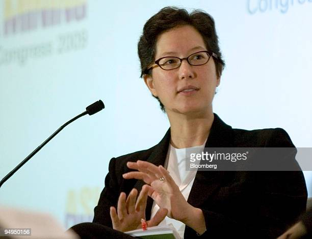 Sulian Tay Goldman Sachs Group Inc managing director and cohead of the Asia exJapan natural resources group speaks during a panel discussion at the...