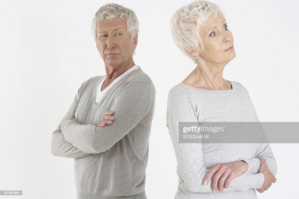 Sulking senior couple : Stock Photo