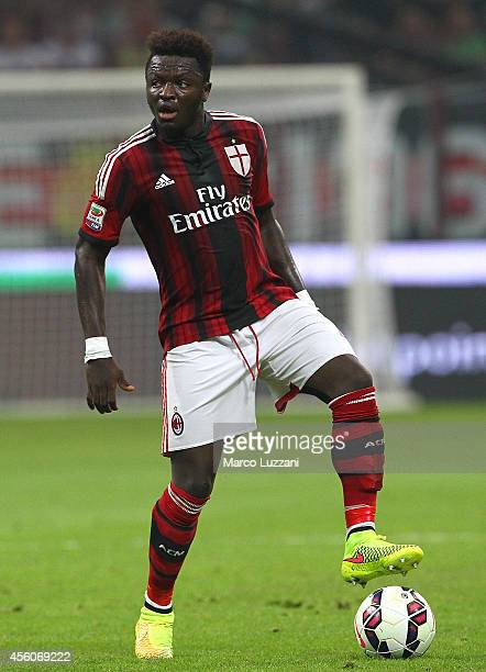 Sulley Ali Muntari of AC Milan in action during the Serie A match between AC Milan and Juventus FC at Stadio Giuseppe Meazza on September 20 2014 in...