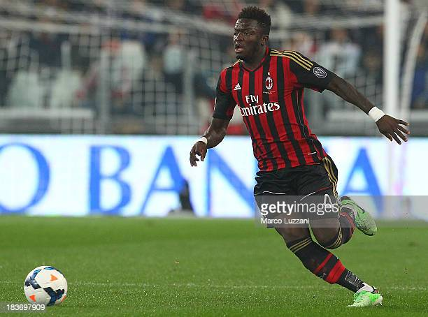 Sulley Ali Muntari of AC Milan in action during the Serie A match between Juventus and AC Milan at Juventus Arena on October 6, 2013 in Turin, Italy.