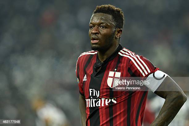 Sulley Ali Muntari of AC Milan looks on during the Serie A match between Juventus FC and AC Milan at Juventus Arena on February 7 2015 in Turin Italy