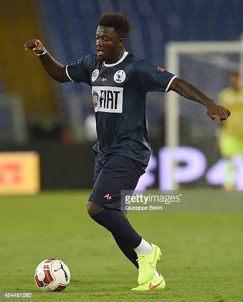 Sulley Muntari in action during Interreligious Match for Peace at Olimpico Stadium on September 1 2014 in Rome Italy