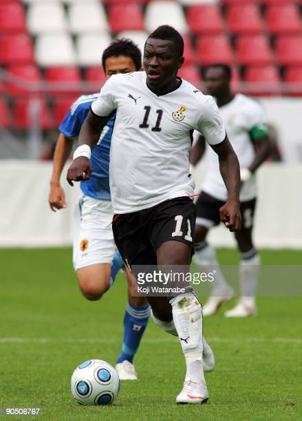 Sulley Muntari of Ghana in action during the international friendly match between Ghana and Japan at Stadion Galgenwaard on September 9 2009 in...