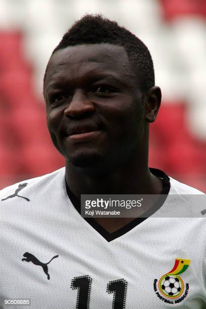 Sulley Muntari of Ghana look on the international friendly match between Ghana and Japan at Stadion Galgenwaard on September 9 2009 in Utrecht...