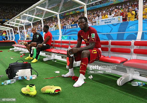 Sulley Muntari of Ghana looks on after the 22 draw in the 2014 FIFA World Cup Brazil Group G match between Germany and Ghana at Castelao on June 21...