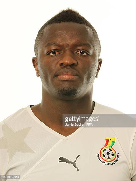 Sulley Muntari of Ghana poses during the official FIFA World Cup 2010 portrait session on June 8 2010 in Johannesburg South Africa