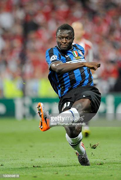 Sulley Muntari of Inter Milan during the UEFA Champions League Final match between Bayern Munich and Inter Milan at the Estadio Santiago Bernabeu on...