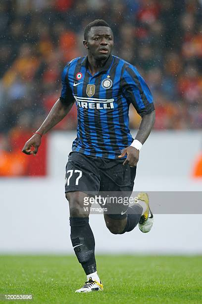 Sulley Muntari of Internazionale in action during the Pre Season Friendly match between FC Internazionale Milano and Galatasaray SK at the...