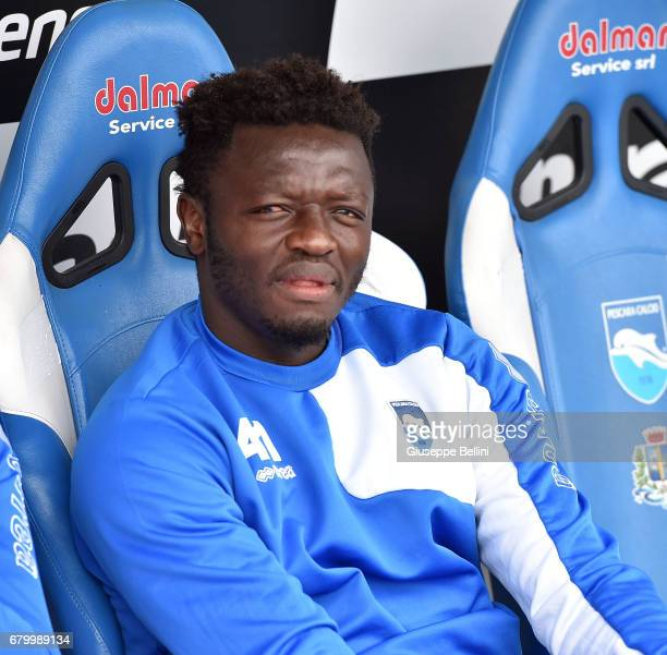 Sulley Muntari of Pescara Calcio during the Serie A match between Pescara Calcio and FC Crotone at Adriatico Stadium on May 7 2017 in Pescara Italy