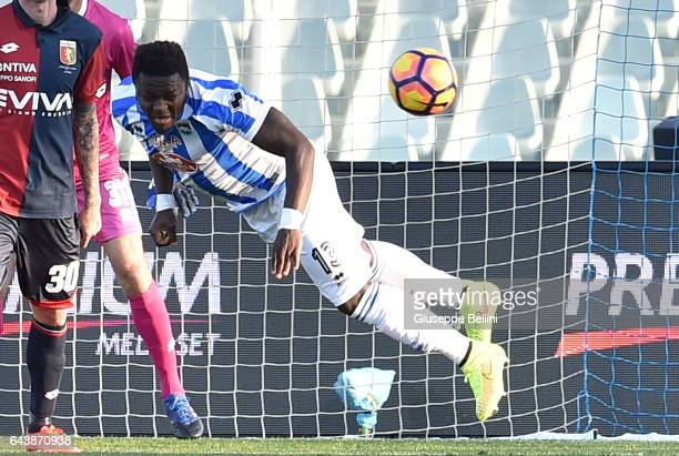Sulley Muntari of Pescara Calcio in action during the Serie A match between Pescara Calcio and Genoa CFC at Adriatico Stadium on February 19 2017 in...