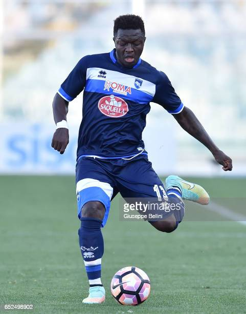 Sulley Muntari of Pescara Calcio in action during the Serie A match between Pescara Calcio and Udinese Calcio at Adriatico Stadium on March 12 2017...