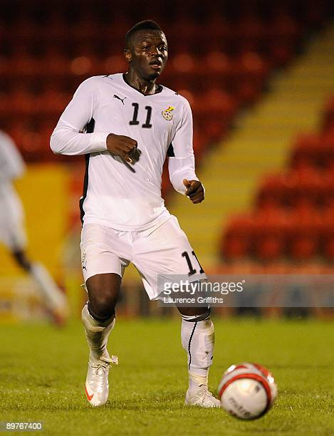 Sulley Muntari of Zambiain action before the International Friendly match between Ghana and Zambia at Brisbane Road on August 12 2009 in London...