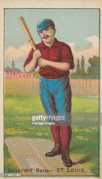 Sullivan Batter St Louis from the Gold Coin series for Gold Coin Chewing Tobacco 1887 Artist D Buchner Co