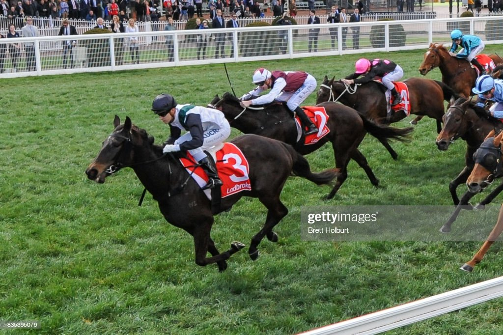 Sullivan Bay ridden by Cory Parish wins Legacy 2017 Badge Appeal Handicap at Caulfield Racecourse on August 19, 2017 in Caulfield, Australia.