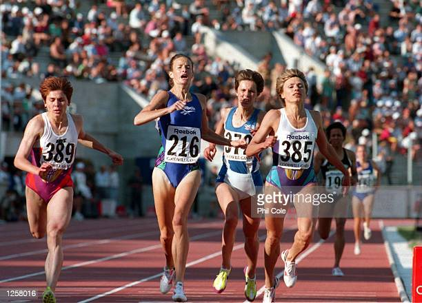 O'sULLIVAN OF THE REPUBLIC OF IRELAND ACROSS THE LINE TO WIN THE WOMENS 1500M FINAL AT THE 1994 GOODWILL GAMES IN ST PETERSBURG RUSSIA LYUDMILA...